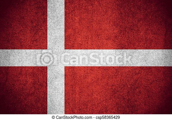 flag of Denmark - csp58365429