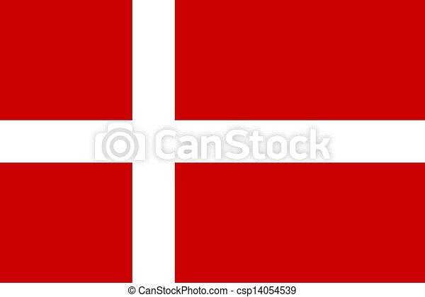 Flag of Denmark - csp14054539