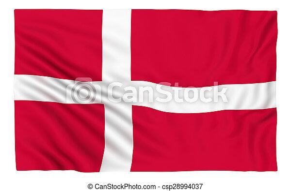 Flag of Denmark - csp28994037