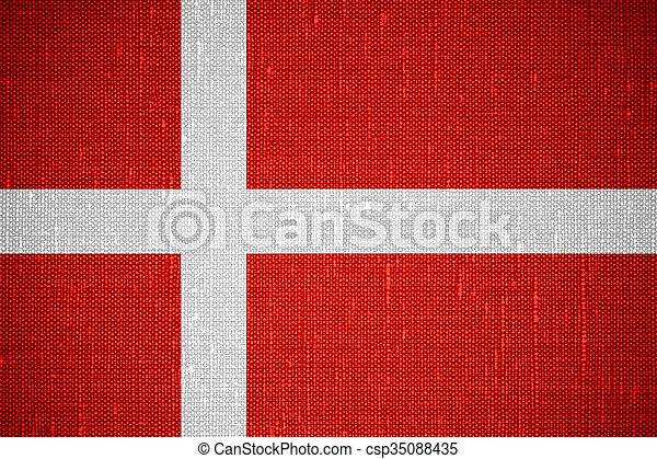 flag of Denmark - csp35088435
