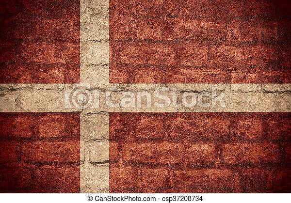 flag of Denmark - csp37208734
