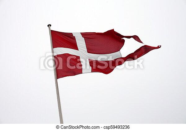 Flag of Denmark - csp59493236