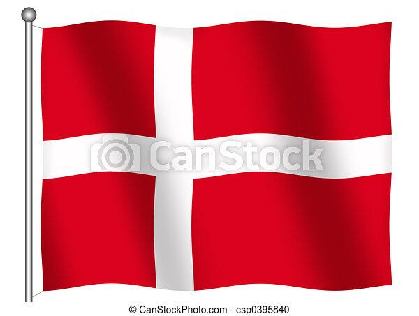 Flag of Denmark Waving - csp0395840