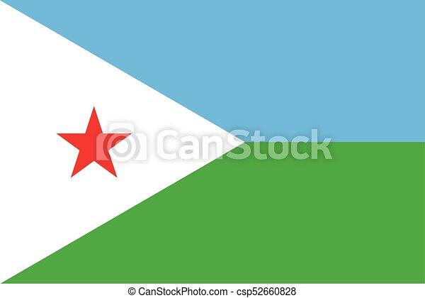 Flag of Djibouti - csp52660828