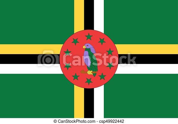 Flag of Dominica - csp49922442