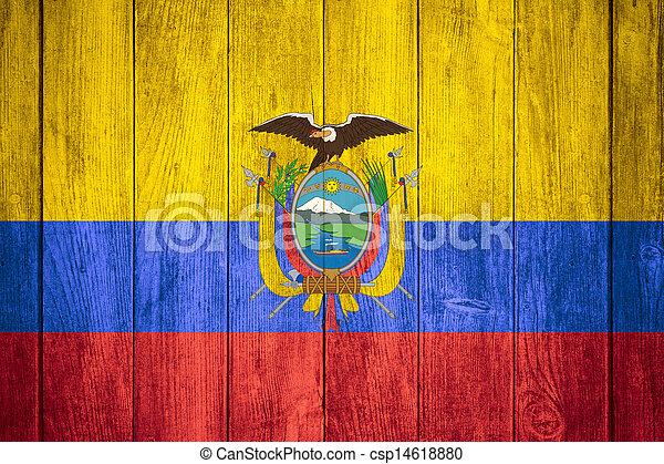 flag of Ecuador - csp14618880