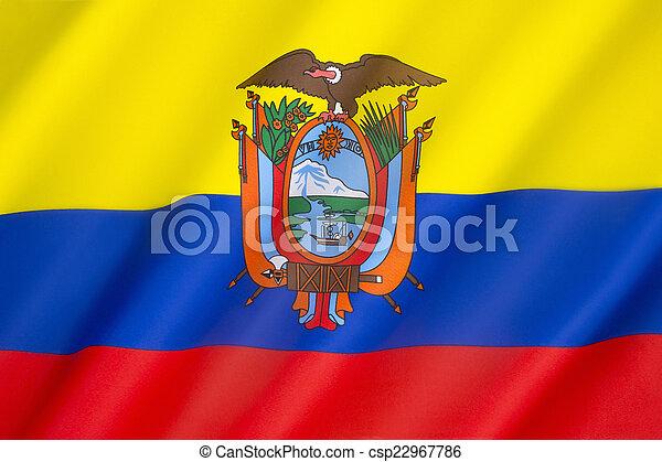 Flag of Ecuador - csp22967786