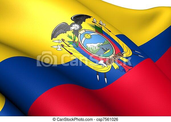 Flag of Ecuador - csp7561026