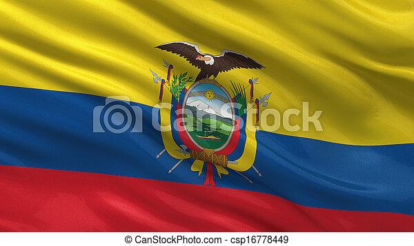 Flag of Ecuador - csp16778449