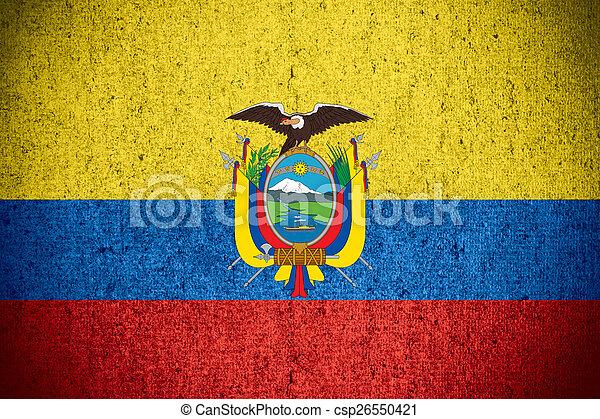 flag of Ecuador - csp26550421