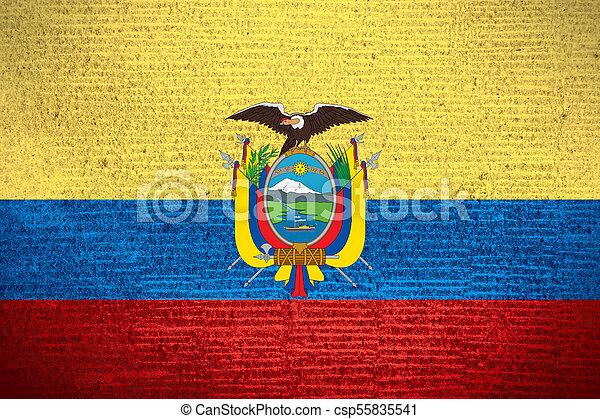 flag of Ecuador - csp55835541