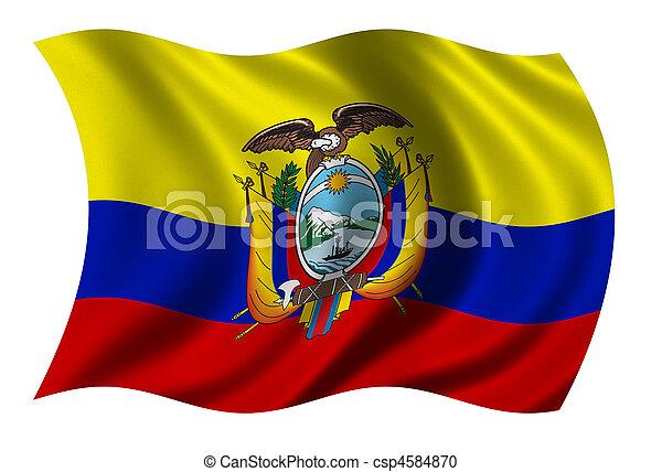 Flag of Ecuador - csp4584870