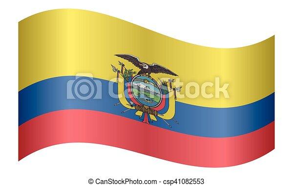 Ecuadorian National Official Flag Patriotic Symbol Banner Element