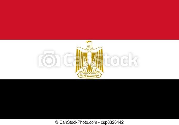 Flag of Egypt - csp8326442