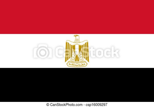 Flag of Egypt - csp16009297