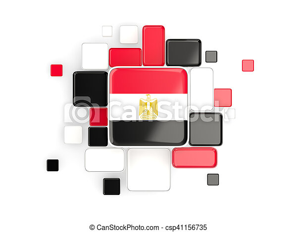 Flag of egypt, mosaic background - csp41156735