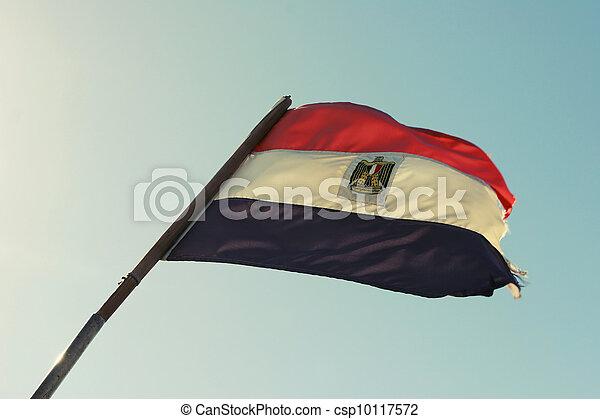 Flag of Egypt - csp10117572