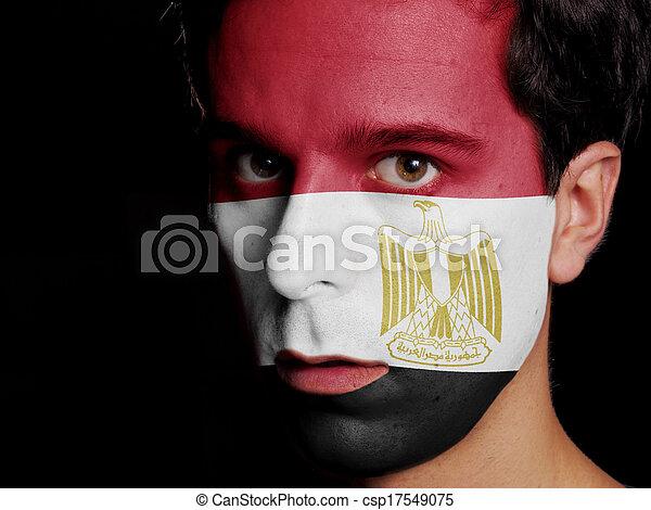 Flag of Egypt - csp17549075