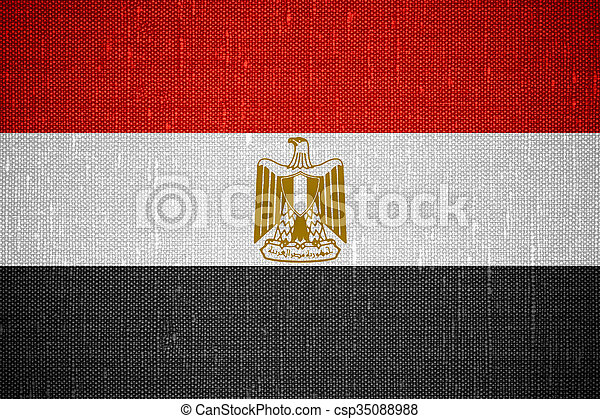 flag of Egypt - csp35088988