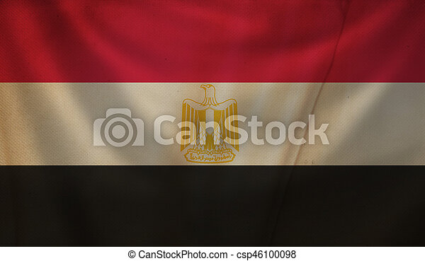 Flag of Egypt. - csp46100098