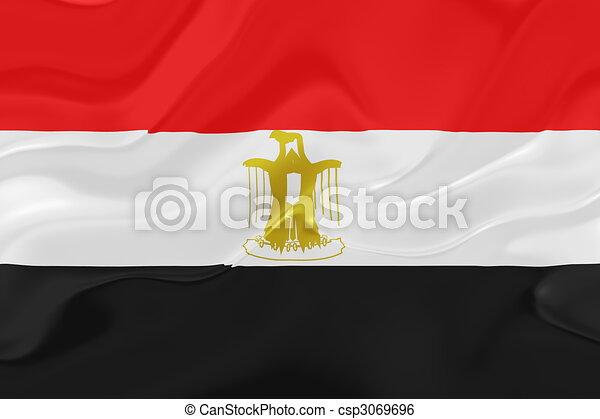 Flag Of Egypt Wavy Flag Of Egypt National Country Symbol