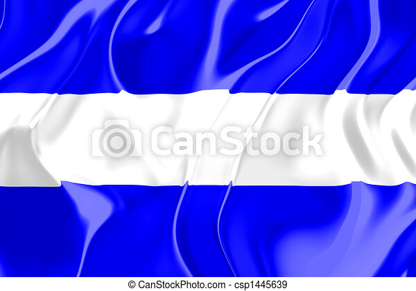 Flag Of El Salvador National Country Symbol Illustration
