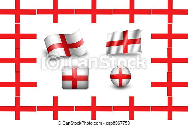 flag of England. icon set - csp8367753