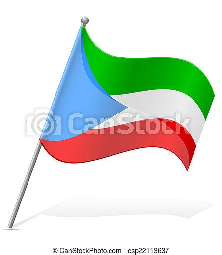 flag of Equatorial Guinea vector illustration - csp22113637