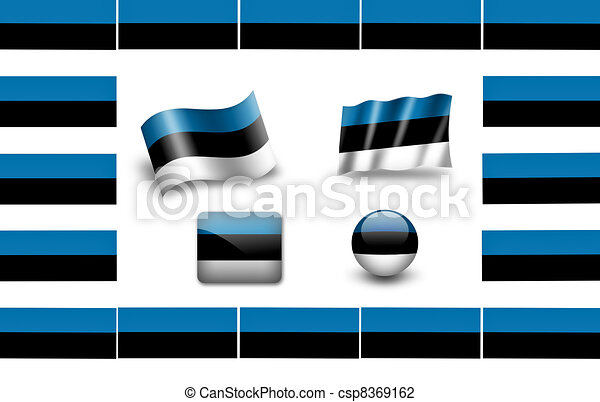 flag of Estonia - csp8369162
