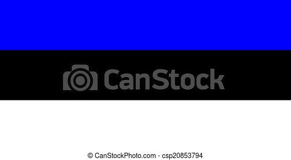 flag of Estonia - csp20853794