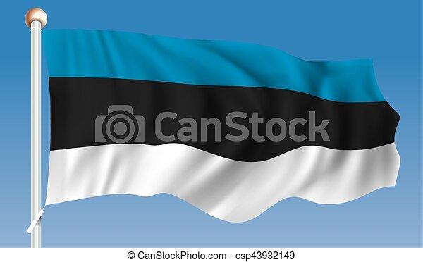 Flag of Estonia - csp43932149