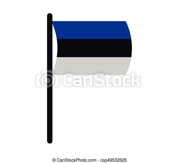 Flag of estonia - csp49532626
