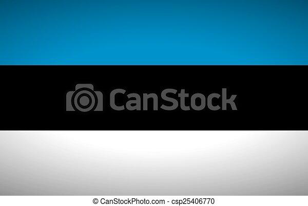 Flag of Estonia - csp25406770