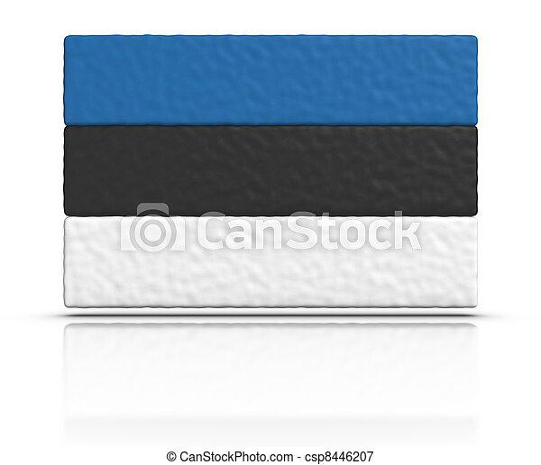 Flag of Estonia - csp8446207