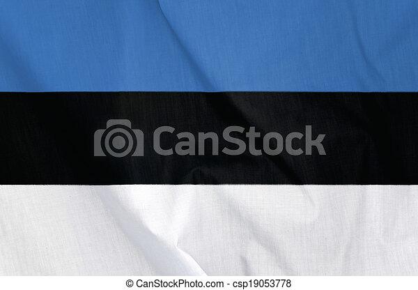Flag of Estonia - csp19053778