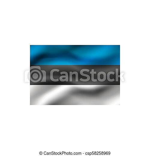 Flag of Estonia. - csp58258969