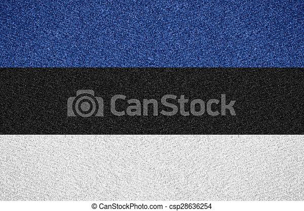 flag of Estonia - csp28636254