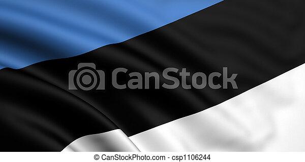 Flag Of Estonia - csp1106244