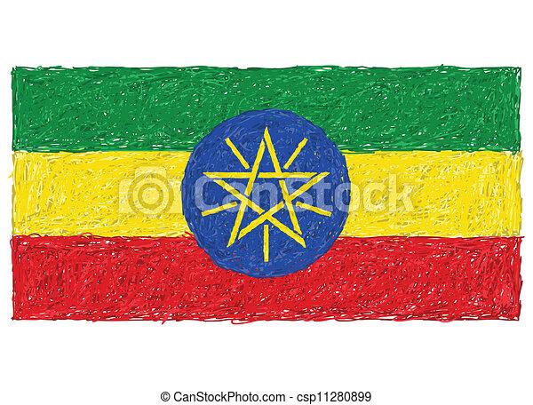 flag of ethiopia - csp11280899