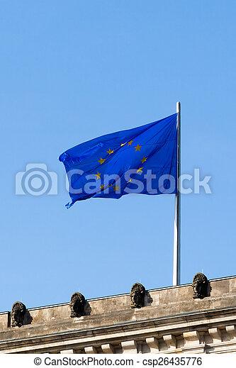 Flag of Europe - csp26435776