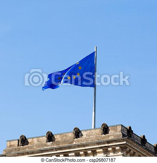 Flag of Europe - csp26807187