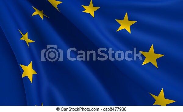 Flag of Europe - csp8477936