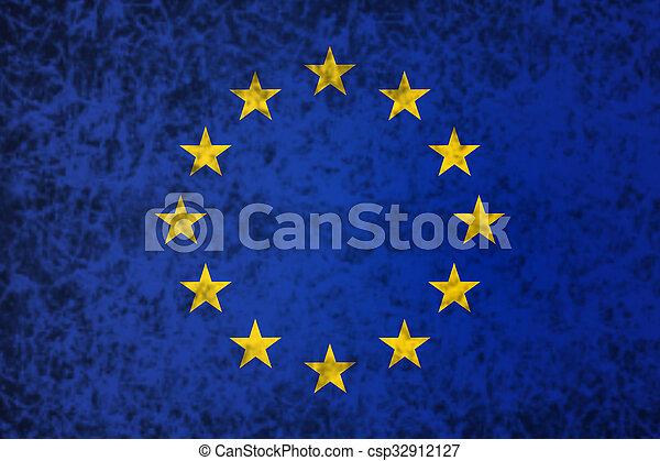 Flag of Europe. - csp32912127