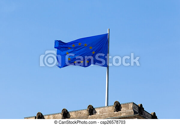 Flag of Europe - csp26578703