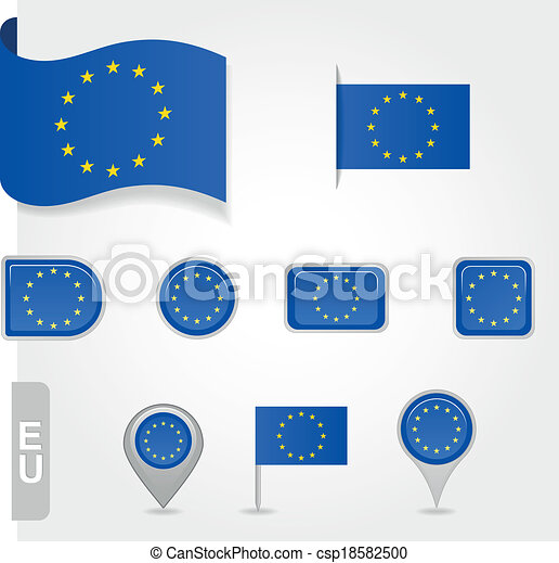 Flag of Europe  Union - csp18582500