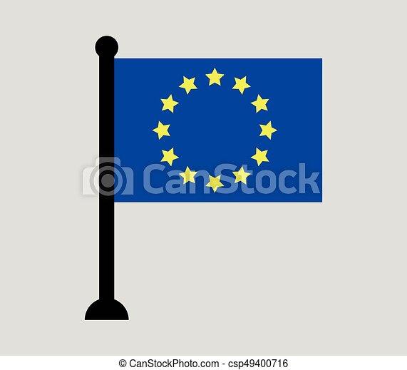 Flag of europe - csp49400716