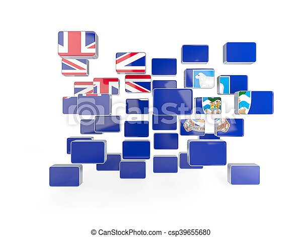 Flag of falkland islands, mosaic background - csp39655680