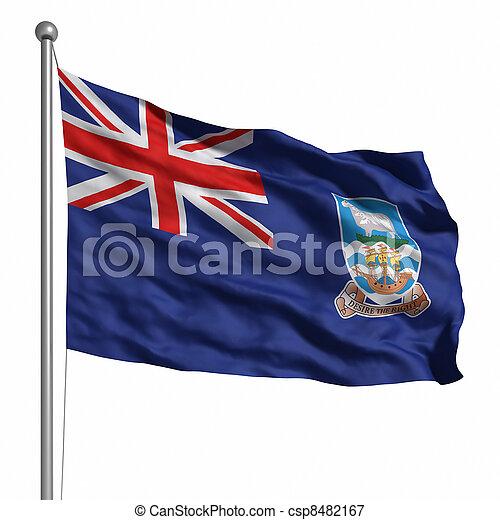 Flag of Falkland Islands - csp8482167