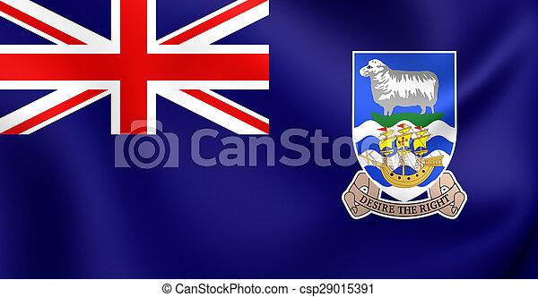 Flag of Falkland Islands - csp29015391