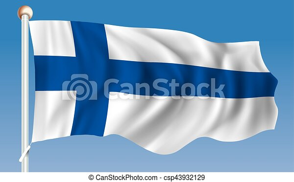 Flag of Finland - csp43932129